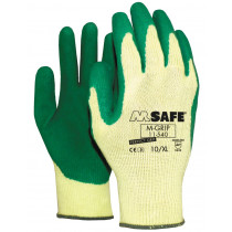 Handschoen M-Grip groen CE cat.2 XL