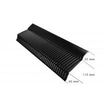 Ubbink UA afdekprofiel -L 1400 mm -zwart