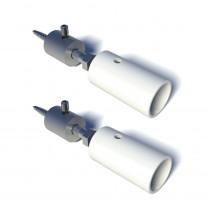 SecuBar flex steun Twist nokken (2st) IDD wit epoxy