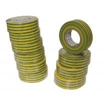 Isolatietape 19mm geel/groen (20mtr)  (1  rol)
