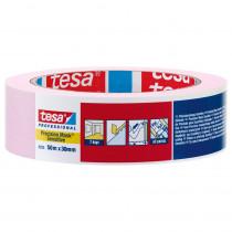 Tesa afplaktape Tesakrepp 4333 roze 25mmx50mtr