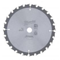Milwaukee cirkelzaagblad 165/6 1/2 x15.87/5/8 mm (24tds)