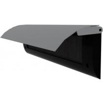 Door-Line binnenbriefplaat kunststof zwart, rvs klep