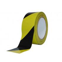 Afzetlint geel/zwart 80mm (500mtr)