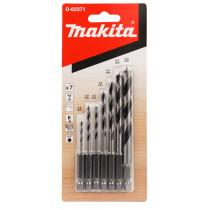 Makita houtspiraalborenset 8-dlg 1/4 inch