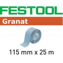 Festool schuurrol Granat 115x25mtr K100