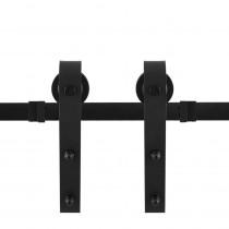 GPF schuifdeursysteem Lanka zwart 400cm (2x200cm)