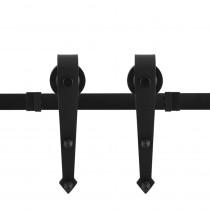 GPF schuifdeursysteem Nuoli zwart 400cm (2 x 200cm)