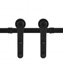 GPF schuifdeursysteem Varsi zwart 400cm (2 x 200cm)