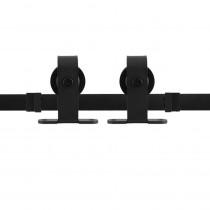 GPF schuifdeursysteem Mutka zwart 400cm (2 x 200cm)