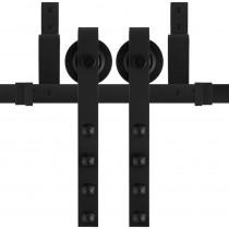 GPF schuifdeursysteem Raskas zwart dubbel 200cm