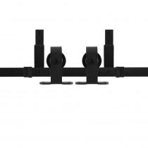 GPF schuifdeursysteem Mutka zwart dubbel 200cm