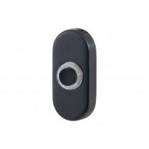 GPF beldrukker ovaal 65x30x10mm m. zwarte button