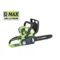 Greenworks kettingzaag 30mm  40V + accu  Li-Ion 2.0Ah + oplader