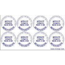 Keuringsstickers (NEN 3140)