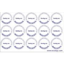 "Keuringsstickers ""geldig tot"", diameter 20 mm, 15 stuks per vel"