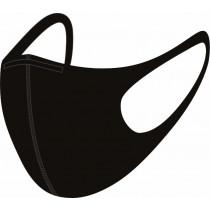 Mondmasker Hygiënisch herbruikbaar zwart - Maat L