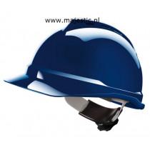 MSA bouwhelm V-Gard 500 met Fas-Trac blauw