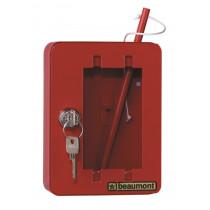 Noodsleutelkast NK1 rood incl hamer gelijksluitend