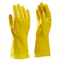 Huishoudhandschoen huishoud latex geel mt L