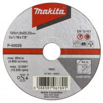 Makita doorslijpschijf 115x1,0mm alu B-45325