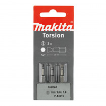 Makita schroefbit sleuf 0,6/0,8/1,0X25MM P-53316