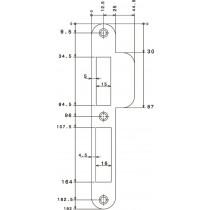 Nemef sluitplaat P4000/17 rvs roh din ls (holl rs)