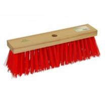 Reinigingbezem/gemeente pvc vrij 40cm rood