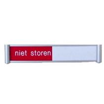 Schuifbordje- VRIJ-NIET STOREN, 115 x 28 mm, systeem FLAT