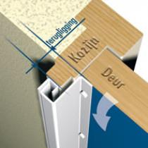 SecuStrip achterdeur, type 3T 8-10 mm, wit epoxy, 211,5cm