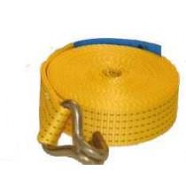 Spanband 50mm geel 7M+haken 5000 kg