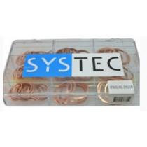 Systec assortimentsdoos 9-vaks afdichtring koper Din 7603A