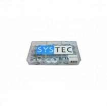 Systec assortimentsdoos 9-vaks sluitring  Din 125A verzinkt