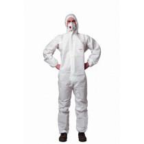 Wegwerp-overall met capuchon wit maat XL